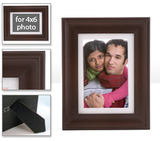 Walnut Table Frame &amp; Mat -  frame-5x7-walnut-lexington-white-mat - $22.99 - includes photo inside frame