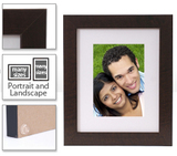 Walnut Wall Frames & Mat -  frame-8x10-walnut-corporate-white-mat - $25.99 - multiple sizes, photo inside